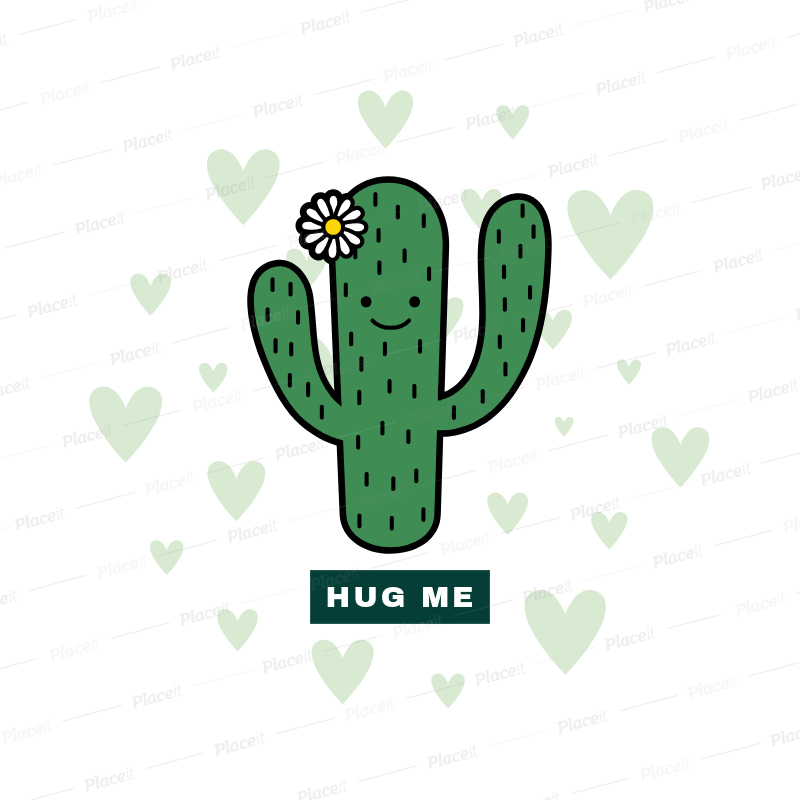 placeit popsocket template with cactus graphics