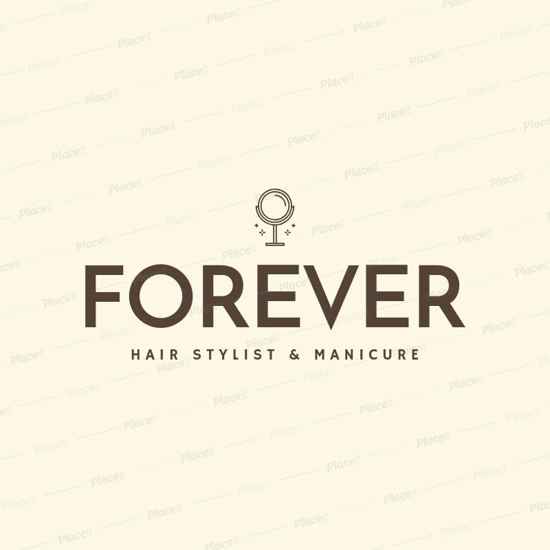 Placeit Nail Salon Logo Template