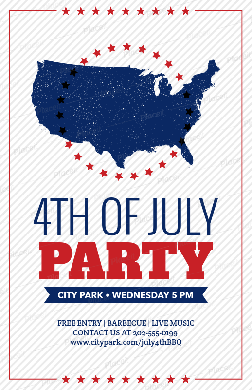 placeit flyer template for 4th of july celebration