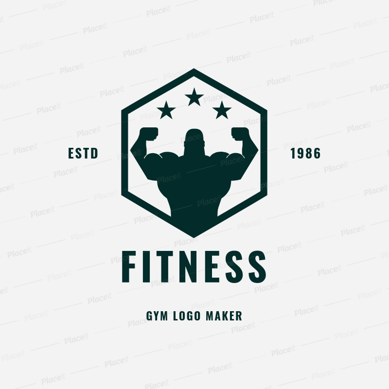 gym logo maker for fitness centers 1272foreground image