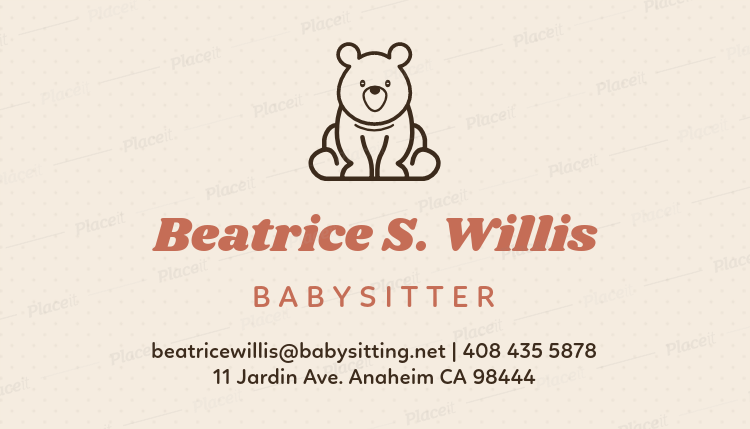 Placeit babysitter business card template with toy icon babysitter business card template with toy icon 256aforeground image friedricerecipe Gallery