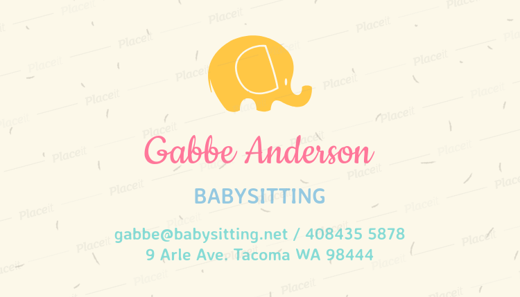 Placeit babysitting business card template babysitting business card template a256foreground image friedricerecipe Image collections