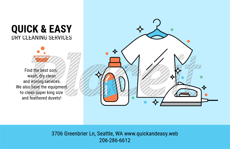 placeit horizontal flyer template for dry cleaning company