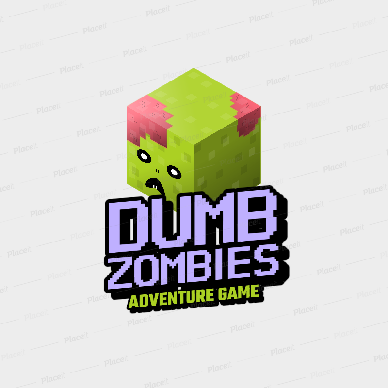 Placeit Gaming Logo Maker With An 8bit Zombie Graphic In