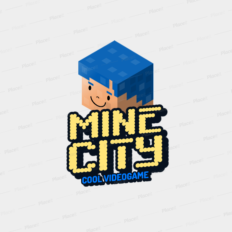 Minecraft Inspired Gaming Logo Maker Featuring 8bit Characters 2667i
