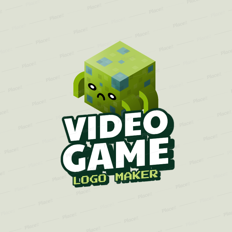 Placeit Minecraft Inspired Gaming Logo Maker Featuring An 8bit Style