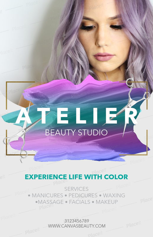 Hair Salon Flyer Template A88Foreground Image