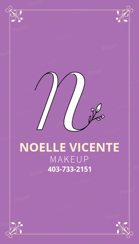 Placeit business card template for makeup artist business card template for makeup artist 484cforeground image colourmoves