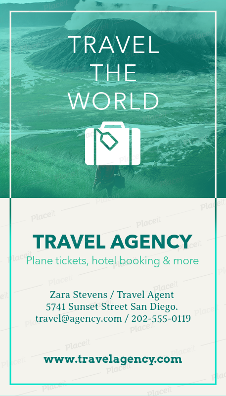 Placeit business card template to design travel agency business cards business card maker for travel agents a166foreground image colourmoves