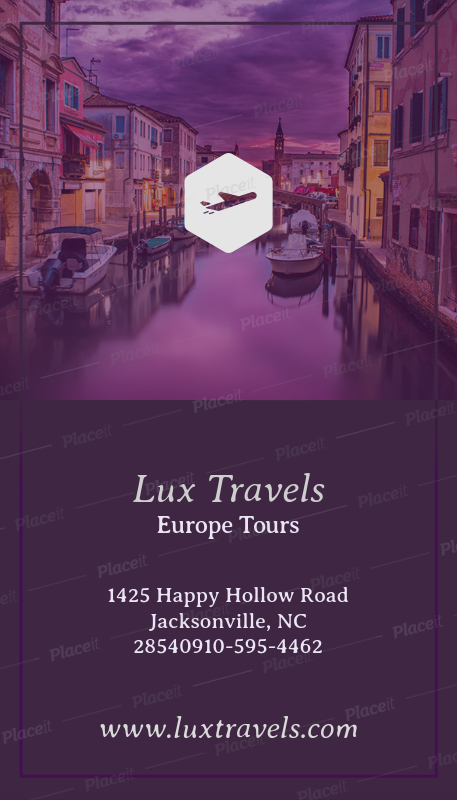 placeit luxury travel business card maker