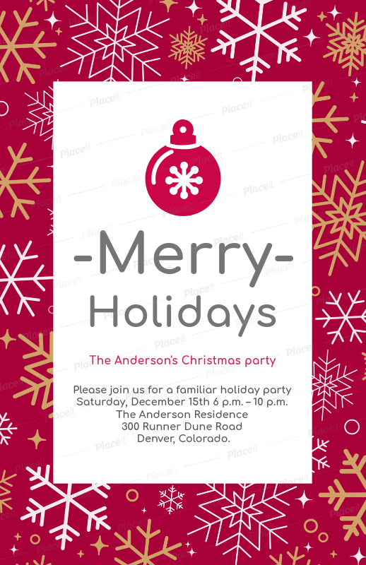 placeit holiday flyer design maker for family christmas parties