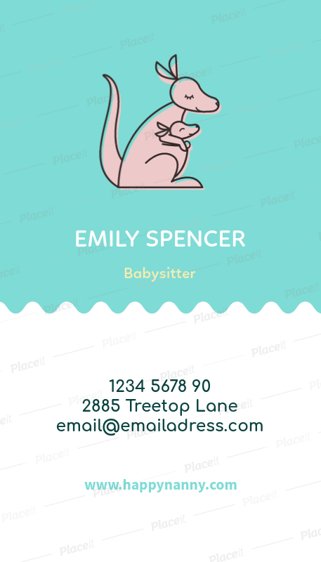 Placeit vertical babysitting business card maker vertical babysitting business card maker a354foreground image colourmoves