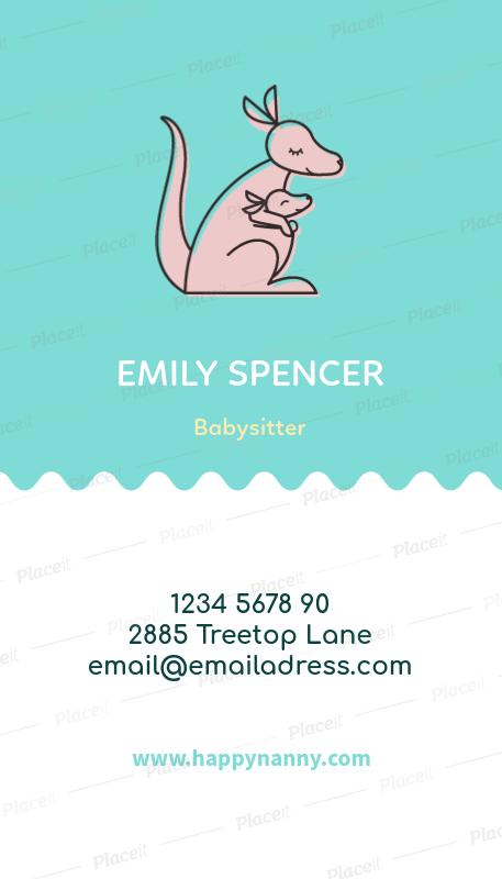 vertical babysitting business card maker a354foreground image - Babysitting Business Cards