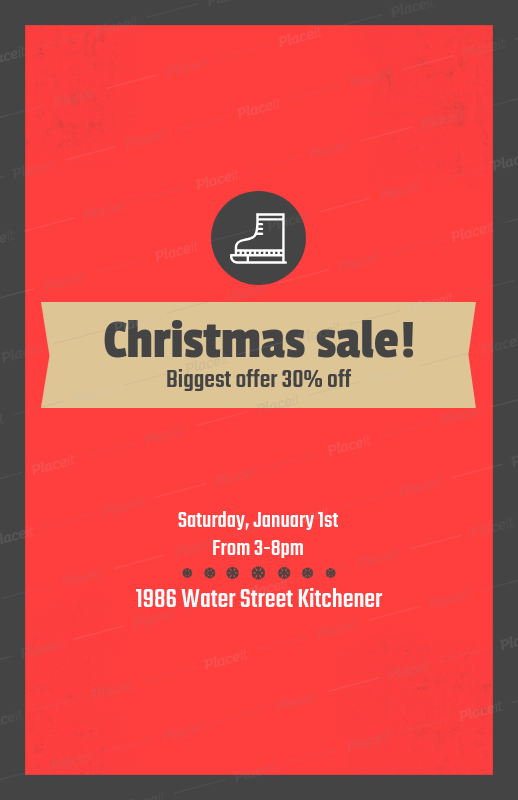 placeit christmas flyer design maker for a holiday sale