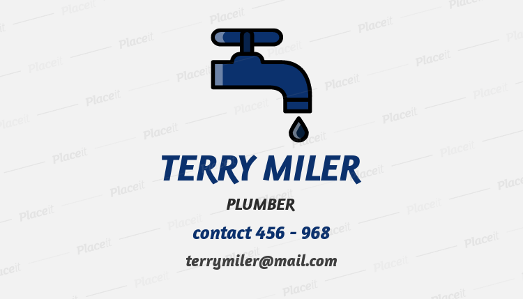 business card generator for a plumber 664aforeground image - Business Card Generator