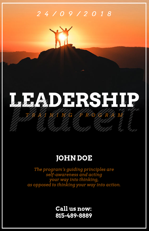 placeit flyer template for leader conferences with inspirational