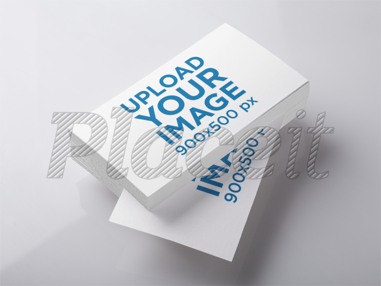 Placeit mockup featuring a stack of business cards lying over a mockup featuring a stack of business cards lying over a smooth surface a6303foreground image colourmoves