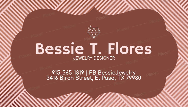 Placeit customizable business card maker for jewelers customizable business card maker for jewelers 224cforeground image reheart Image collections