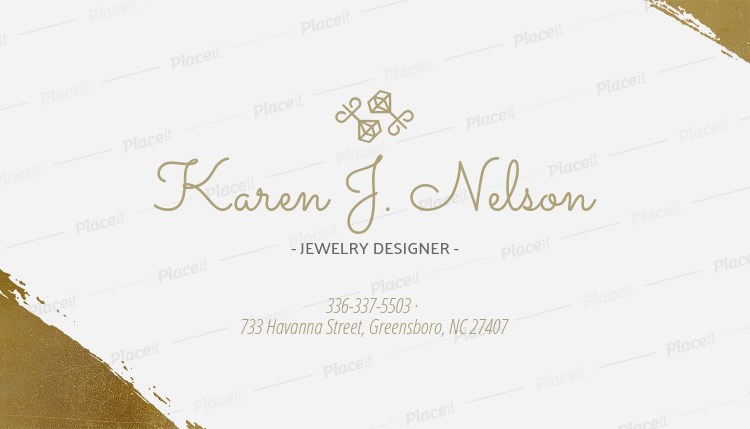 Placeit business card maker for engagement ring designers business card maker for engagement ring designers 224e foreground image reheart Image collections