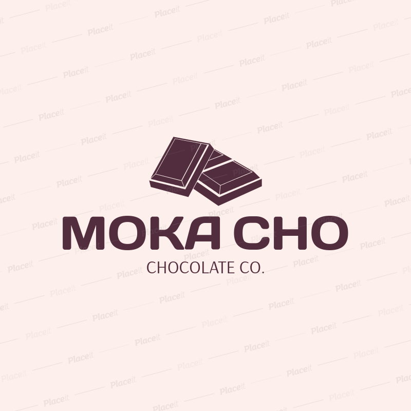 Placeit chocolate company logo creator chocolate company logo creator 1392eforeground image thecheapjerseys Image collections