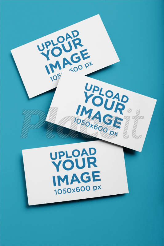 Placeit mockup of three business cards on a solid color surface mockup of three business cards on a solid color surface 21900foreground image reheart Image collections