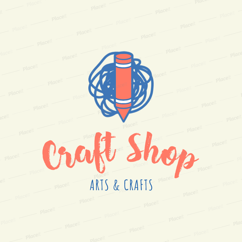 Placeit Crafts Shop Logo Creator