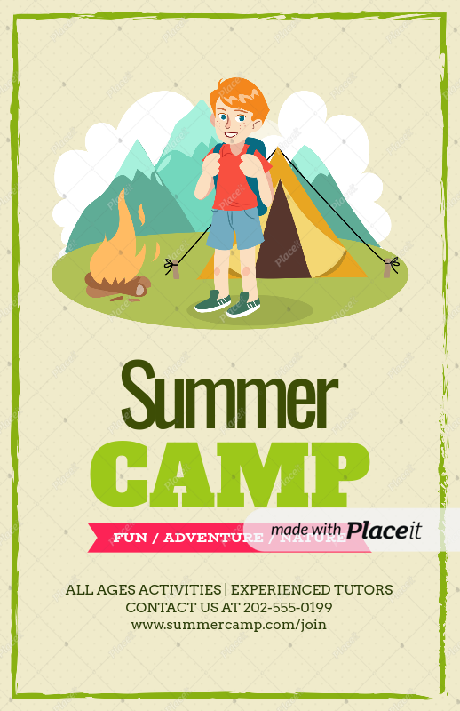 Placeit - Flyer Design Template for Summer Camp Flyers