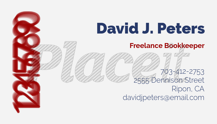 Placeit freelance bookkeeper customizable business card template freelance bookkeeper customizable business card template 252cforeground image wajeb Images
