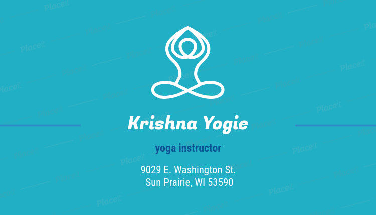Placeit creative business card maker for yoga instructors creative business card maker for yoga instructors 334aforeground image reheart Images