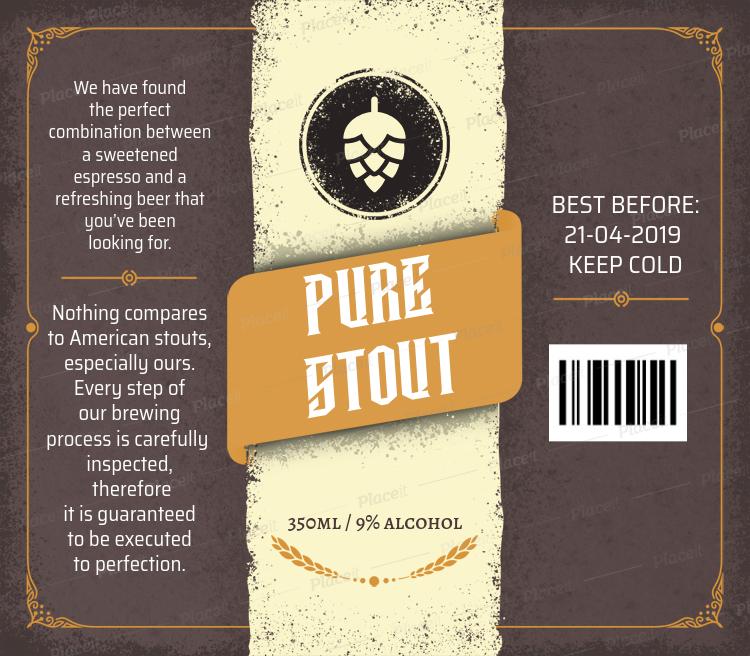 Stout Beer Label Maker 759cForeground Image