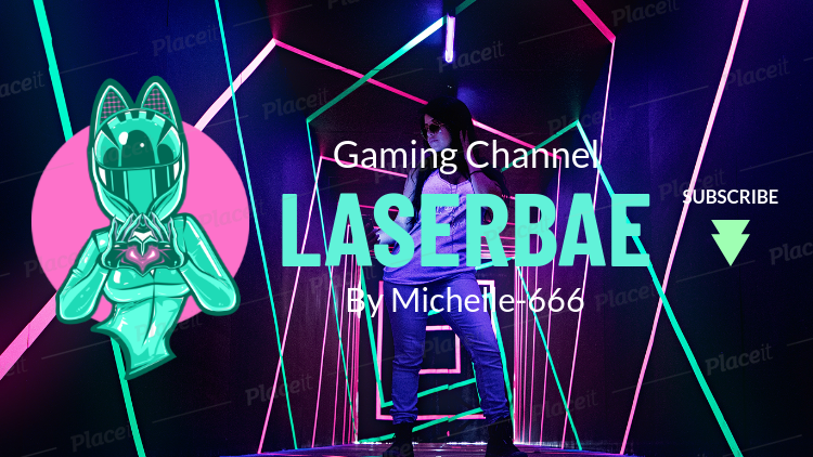 Fortnite Inspired Youtube Banner Maker With A Female Character With A Helmet 1735k