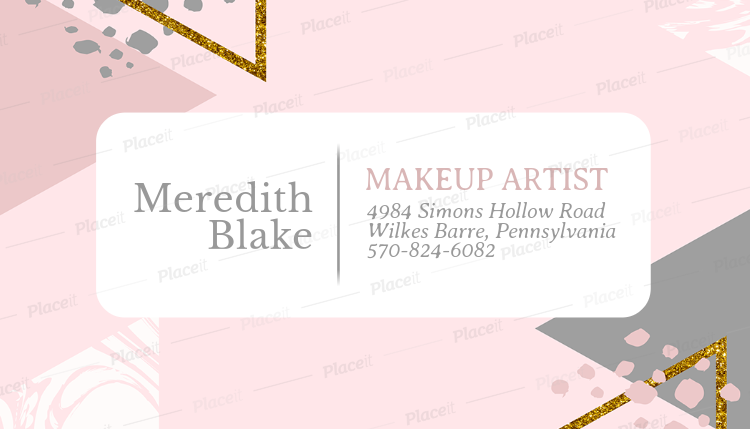 Placeit business card template for makeup artists with watercolor business card template for makeup artists with watercolor background 246cforeground image reheart Images