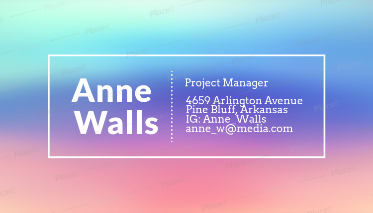 Placeit artistic business card template for project managers artistic business card template for project managers 246eforeground image colourmoves