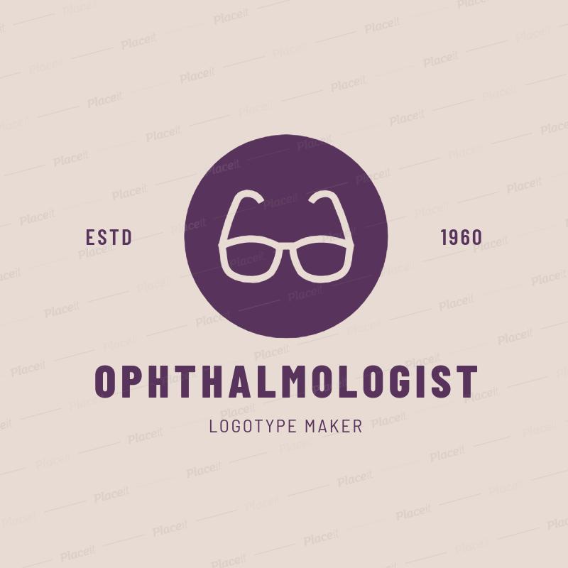Placeit Online Logo Maker For Eye Doctors