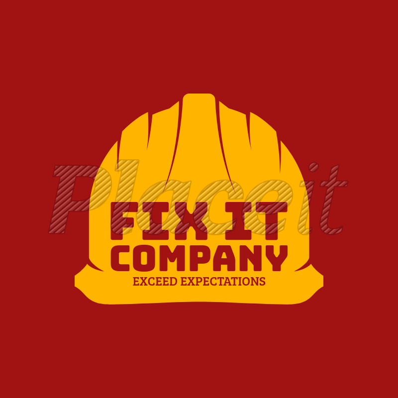 Placeit Construction Company Logo Maker With Hard Hat Icon