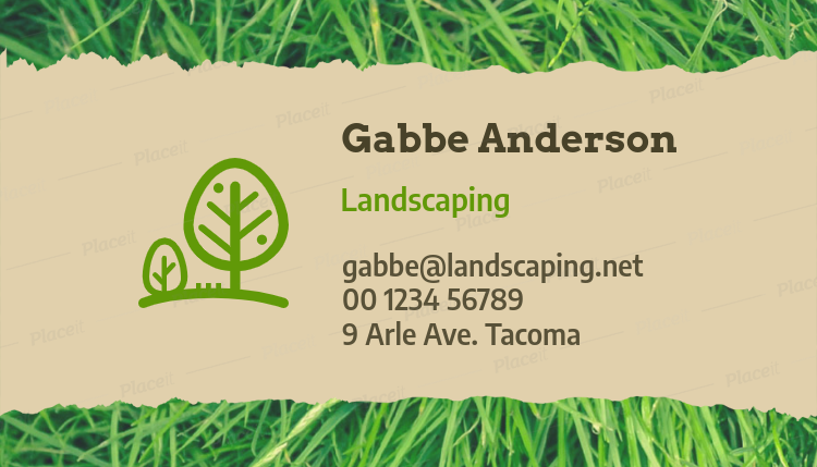 Placeit garden professionals business card maker business card template for landscaping professionals 650foreground image wajeb Choice Image