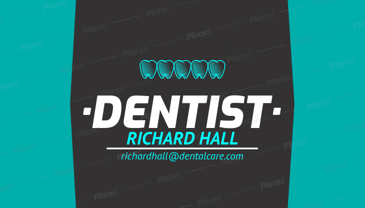 Placeit simple dentist business card template simple dentist business card template 558cforeground image cheaphphosting Choice Image