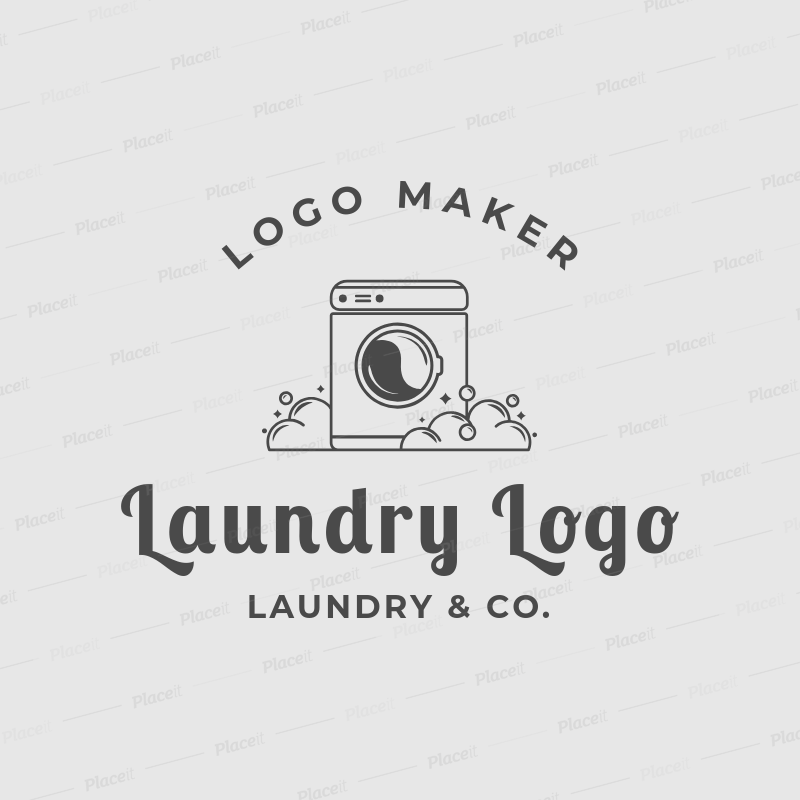 placeit laundry logo maker for a laundry service company laundry logo maker for a laundry service company 1777