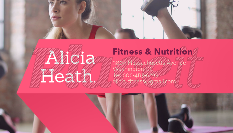 Placeit female personal trainer business card maker female personal trainer business card maker 351eforeground image colourmoves