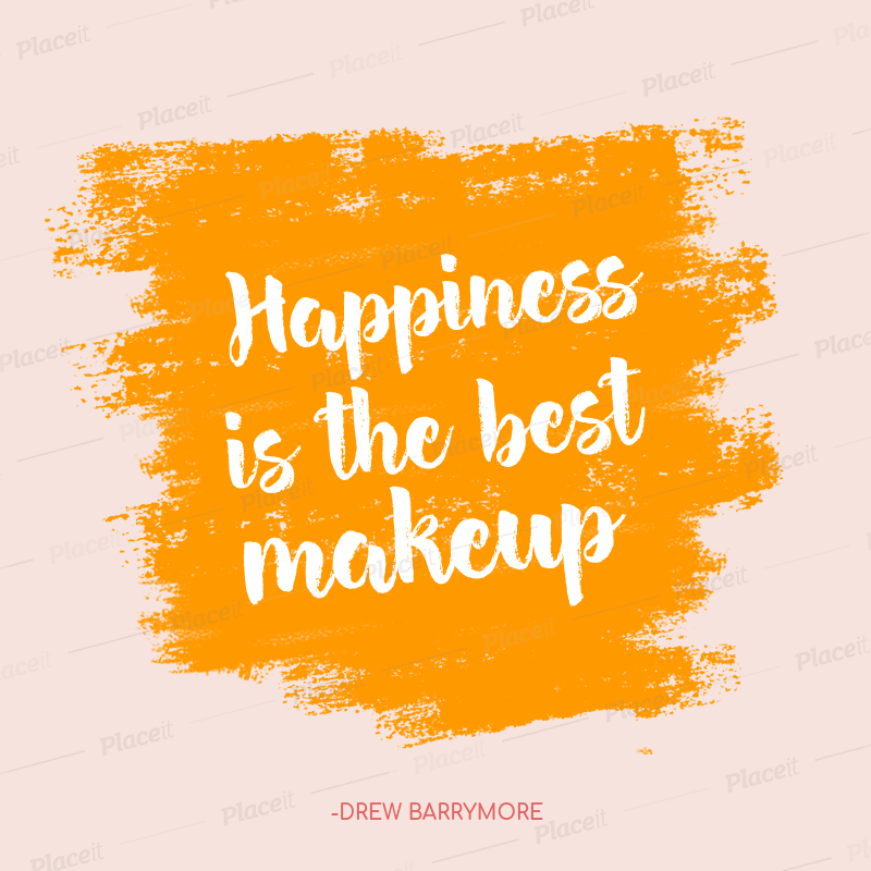 Happiness Quotes Instagram Post Maker 1103d