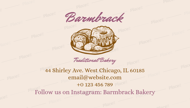 Placeit bakery business card template bakery business card template a65foreground image reheart Image collections