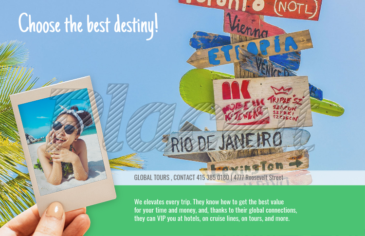 placeit online flyer maker for a travel agency with beach theme