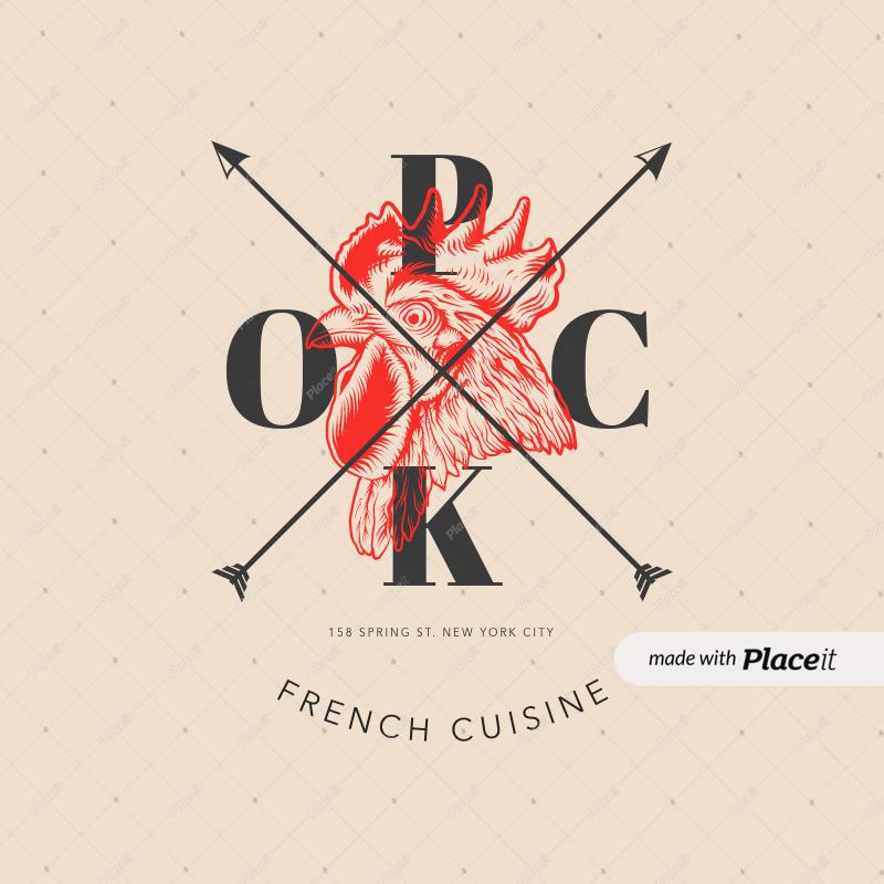 placeit restaurant logo template to make an elegant restaurant logo