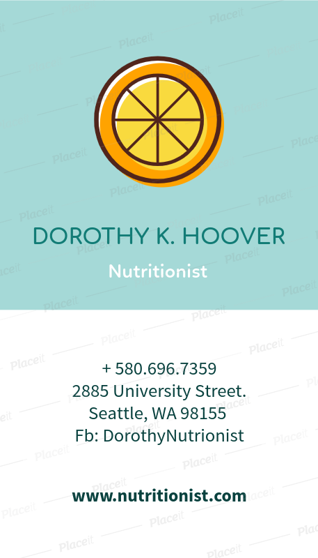 Placeit nutritionist business card maker nutritionist business card maker a215foreground image colourmoves