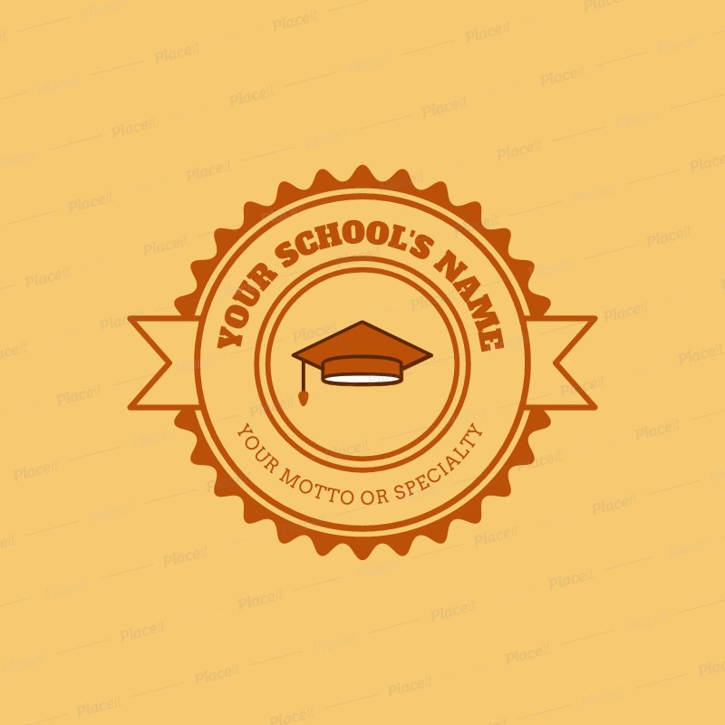 Placeit Online Logo Maker For A School Yellow Theme