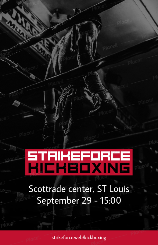 placeit flyer maker for boxing fights or sport events promotion