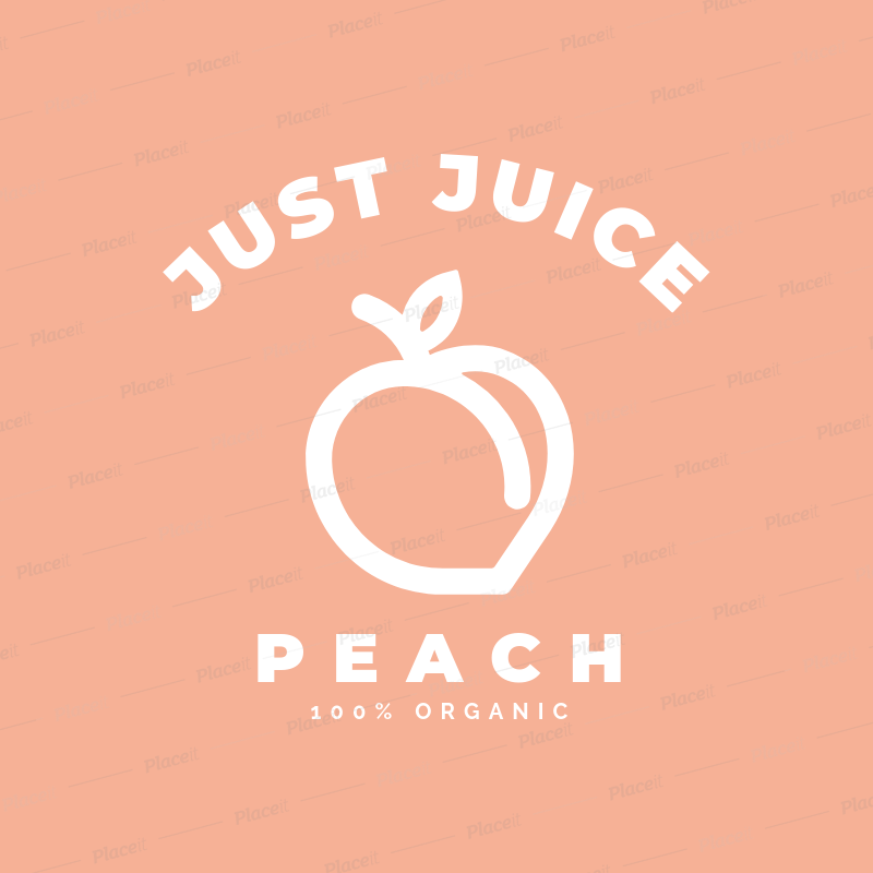 placeit online logo maker for a juice place featuring a peach silhouette online logo maker for a juice place featuring a peach silhouette 253a el