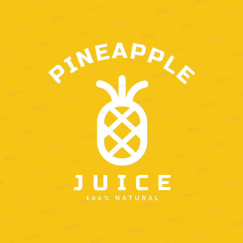 placeit minimal juice logo template featuring a pineapple clipart minimal juice logo template featuring a pineapple clipart 253b el