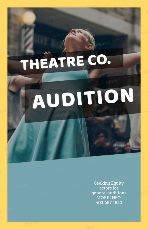 Casting Flyer Maker For Theatre Auditions 427aForeground Image
