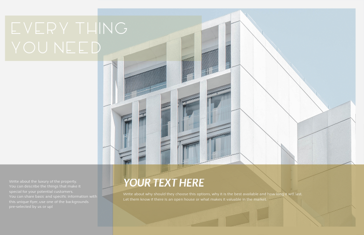 placeit real estate flyer template for modern apartments